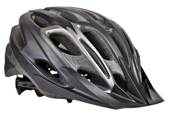 Cycling helmet on white background