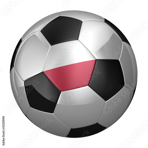 Polish Soccer Ball isolated over white background