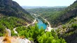A view into the canyon in the Taurus mountains in Turkey