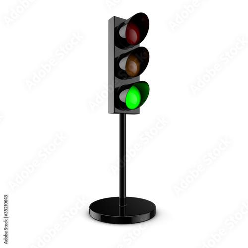 Feu de circulation vert