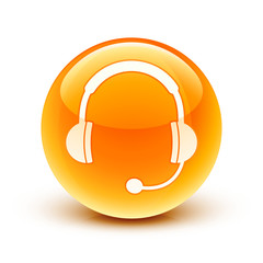 icône casque audio sav / headphone hotline icon