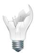 broken-down  light bulb
