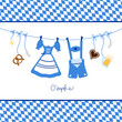 8 Octoberfest Symbols Hanging & Pattern Background