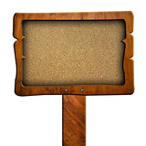 Chipboard sign with clipping path poster