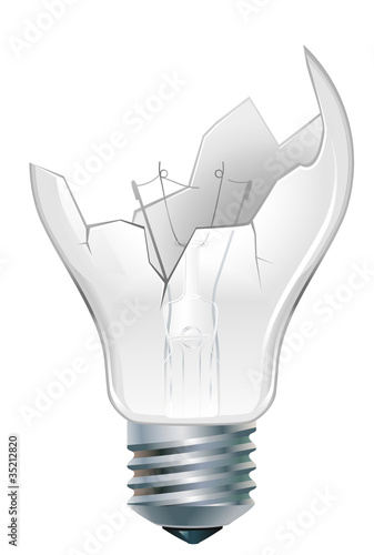 broken-down  light bulb