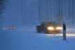 Landstraße im Winter