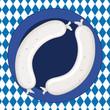 Oktoberfest Weißwurst-Paar im Teller