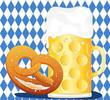 Oktoberfest Maß und Brezl mit Flagge