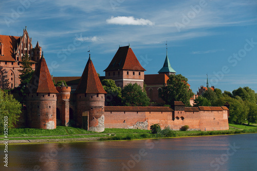 Malbork castle on a fine day