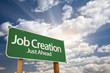 Постер, плакат: Job Creation Green Road Sign