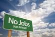 No Jobs Green Road Sign