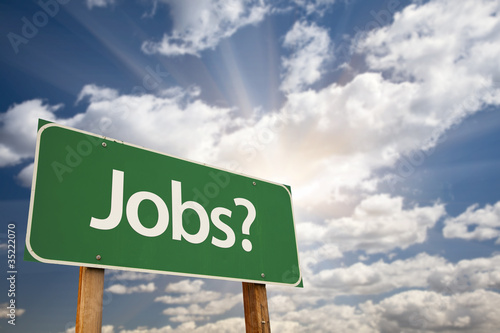 Jobs? Green Road Sign
