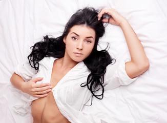 sexy brunette woman