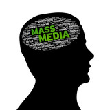 Silhouette head - Mass Media