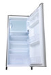 silver refrigerator open
