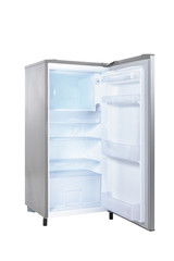 open single door fridge