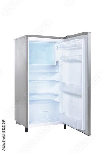 open single door fridge
