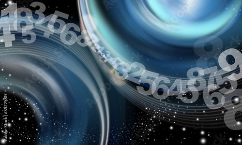Background abstract sky numbers