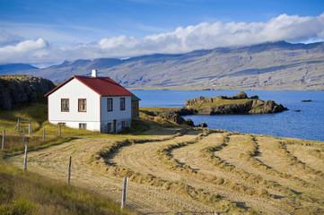 Haus am Stöðvarfjörður, Fjord in Iceland