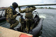 Boarding a ship – soldier. The Marine special forces