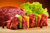 Fototapety Raw beef on cutting board
