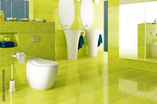 badezimmer in gelb von arsdigital lizenzfreies foto 35227898 auf. Black Bedroom Furniture Sets. Home Design Ideas