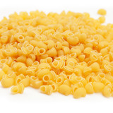 Elbow macaroni pasta food in pile