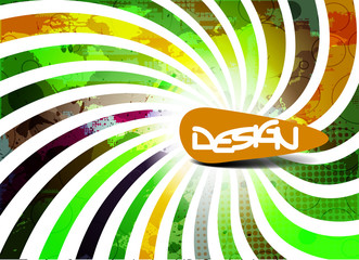 Abstract vector banner design