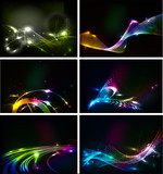 Fototapety Abstract vector Wave lines