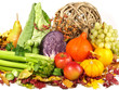 Herbstliches Gemüse und Früchte