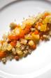 Polenta, légumes, cuisine, gastronomie, carottes, poivrons