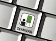 Seminar auf Tastatur