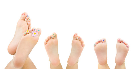 Kinderfüße: größer - kleiner - ganz klein