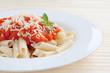 Macaroni with tomato ans cheese