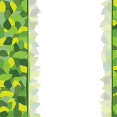 Background from leaves, yellow, green, a place for writing.