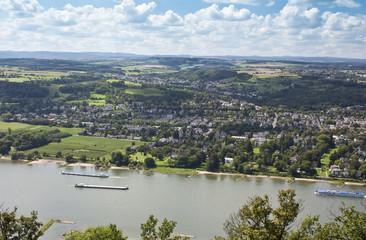 View to The River Rhine, Koenigswinter, Bad Godesberg and Bonn