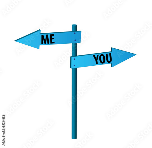 Me or you?