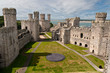 Caernarfon castle in Snowdonia, Wales