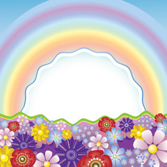 Rainbow Meadow Flowers
