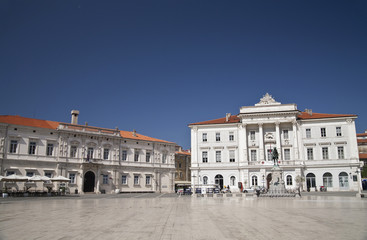 Tartini square in Piran, Slovenia.