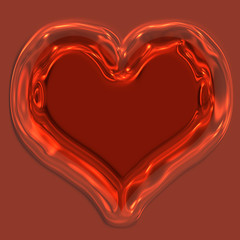 glass heart for holiday, Valentine`s or love theme designs