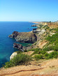 Black sea coast in Crimea, Ukraine