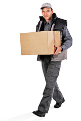 delivery man with parcel