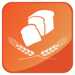 Wheat bread button vector