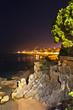 Fotografia nocturna de la playa de Platja d'Aro