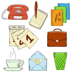 Set of business hand draw images