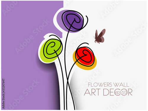 Spring abstract floral background