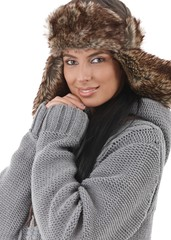 Smiling woman dressed for winter fun