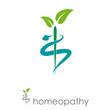 Logo homeopathy, alternative medicine # Vector