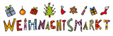 Fototapety Kinder Schrift Weihnachtsmarkt